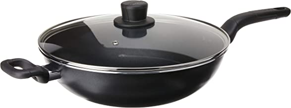 Tefal B50394 Cook Easy Chinese Wok Pan with Lid, 32cm Black