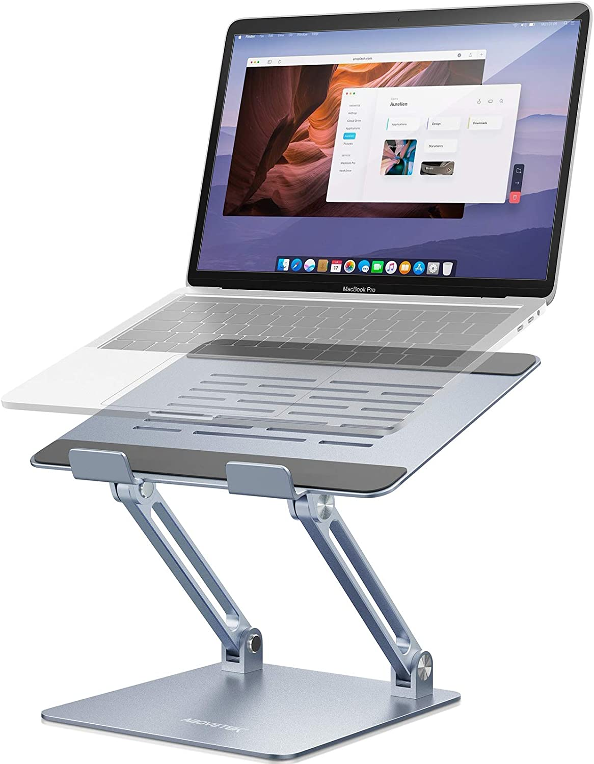 AboveTEK Laptop Courier shipping free Stand Adjustable Riser Ranking TOP15 Aluminum Compute