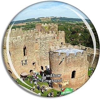 Ludlow Castle UK England Fridge Magnet Travel Gift Souvenir Collection 3D Crystal Glass Sticker