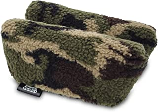 Universal Crutch Underarm Pad Covers - Luxurious Soft Fleece with Sculpted Memory Foam Cores (Army Camo)