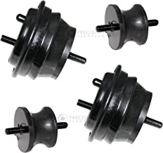 4pcs Motor Mounts (Front Left and Right) and Transmission Mounts Compatible with E36 E46 BMW 323i 323ci 323is 325ci 325i 325is 328i 328is 330ci 330i Z4 (EM-9096 and EM-9003) Engine Mounts