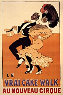 Vintage Poster Series - Le VRAI Cake Walk - Vintage French Advertising - Metallic Tin Sign Poster Printed Bar Restaurant Club Lovers Gift 11.8 x 7.8 in