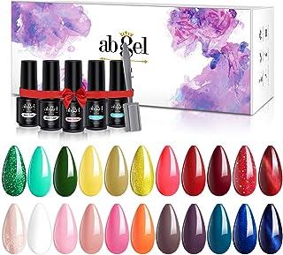 ab gel 27pcs Soak Off Gel Nail Polish Kit with Base and Top Coat, 22 Colors Gel Polish Set