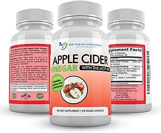 Apple Cider Vinegar Capsules - 100% Organic Apple Cider Vinegar Pills 1500 mg - Natural Digestion, Immune Booster Support...