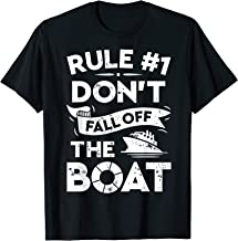 Rule Number 1 Don't Fall Off The Boat T shirt Cruise Ship