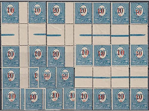 Goldhahn Oberschlesien postfrisch  W1-4, ZW1-2, ZS1-7, HZ1-2 von Nr. 11 Briefmarken für Sammler