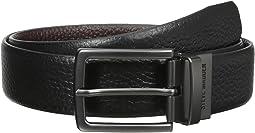 35mm Pebble Leather Reversible Belt
