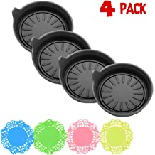 ArtJ4U Car Coasters for Cup Holders Durable Silicone Coasters,Removable Universal Vehicle Cup Holder Coasters Set of 4 Pack,3.15 FT Fit Your Vehicle's Cup Holders(4 Pack)