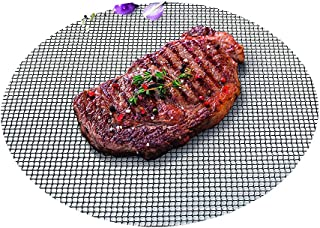 Durandal Selection Grille de barbecue ronde diamètre 48cm avec revêtement anti-adhésif Barbecue Tapis Griller
