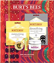 Burt's Bees Spa Collection Holiday Gift Set, 5 Products - Mini Candle, Lip Mask, Lip Balm, Face Mask And Cuticle Cream