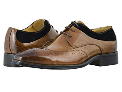 Stacy Adams Hewlett Wing Tip Oxford (Tan/Black) Men