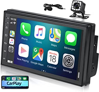 $119 » Double Din Car Stereo with Apple Carplay & Android Auto, EKAT Android Car Audio Receiver 7 Inch Touchscreen, Car Multimedi...