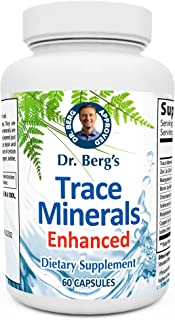 Dr. Berg's Trace Minerals Enhanced Complex - Complete with 70+ Nutrient-Dense Health Mineral - 100% Natural Ingredients - ...