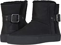 Black Water Resistant Nubuck Leather