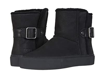 UGG Aika (Black Water Resistant Nubuck Leather) Women