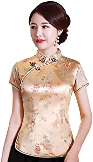 chinese collar blouse womens