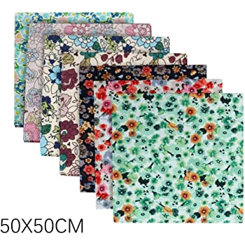 Multicolor TOTAMALA 20PCS Cotton Craft Fabric DIY Face Cover kit Self-Made Face Cover Material Set Bundle Patchwork Squares Quilting for Home DIY Sewing Crafts 9.84x11.81 Inch