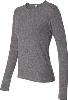 2dead9cd Bella Canvas Womens 1x1 Baby Rib Long-Sleeve Crew Neck T-Shirt (B5001
