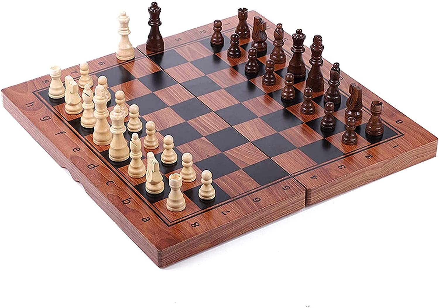 Outlet ☆ Free NEW before selling Shipping MTCWD Chess Set Magnetic Board Portable Wood