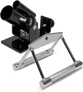Yes4All Plataforma de fila de barra en T de lujo - Giratoria completa de 360 ° y fácil de instalar - Se adapta a barras olímpicas estándar de 1