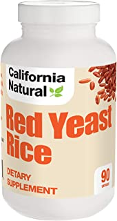 Red Yeast Rice Extract 600MG - California Natural - Cardiovascular & Heart Health - Support Healthy Cholesterol - High Pot...