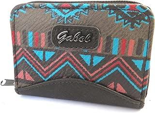 Zip purse 'Gabol' brown turquoise (11.5x8x3 cm (0.00''x3.15''x1.18'') ).
