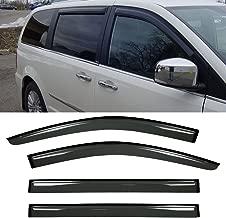 Audrfi 4pcs Window Visors Sun Rain Guard for 08-16 Town & Country Grand Caravan Side Window Deflectors Vent Visor