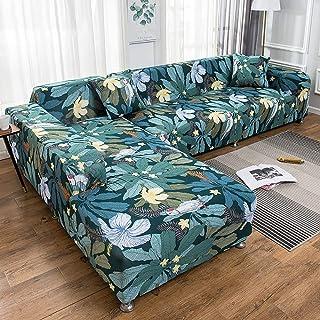 Funda Sofa Chaise Longue, Cuatro Estaciones Universal Extensible Extraíble Antideslizante de Todo Incluido Protector de Sofá(L Forma Sofá Necesita Comprar (2) Juegos de Sofás)