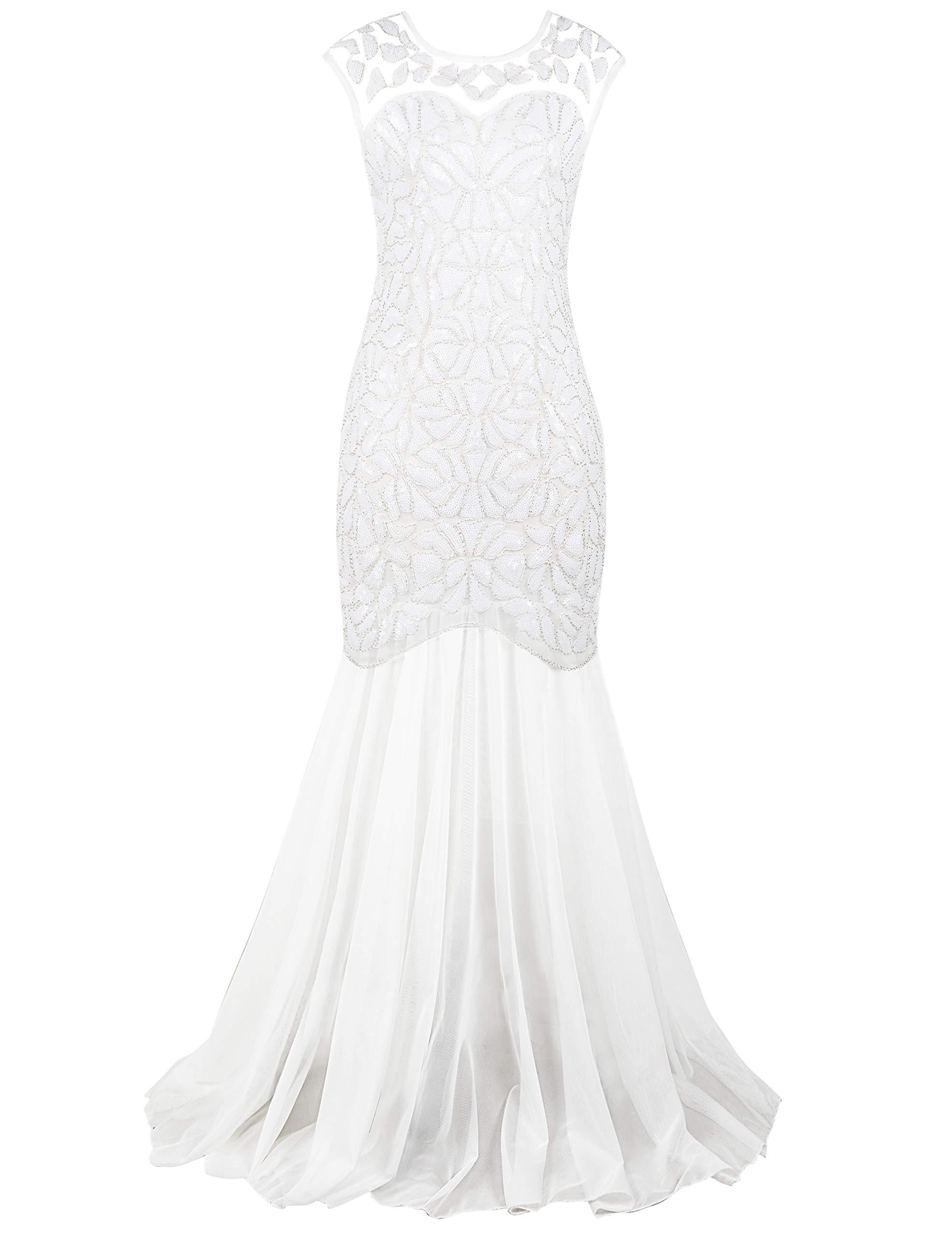 White Dress - Women Off Shoulder Floral Lace Twin Set Dress