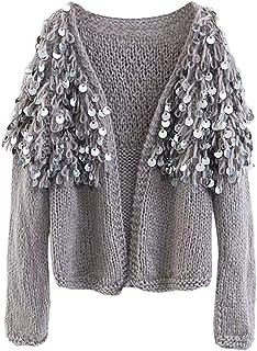bas prix 78002 38bf6 Amazon.fr : paillette - Pulls, Gilets & Sweat-shirts / Femme ...