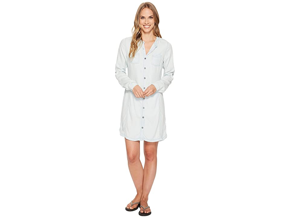 Prana Aliki Shirt Dress (White Wash) Women