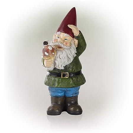 Garden Gnome Holding Mushroom