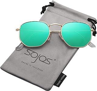 6d0eed948d SOJOS Clásico Polígono Espejo Lentes UV Portección Unisex Gafas de Sol  Polarizado SJ1072