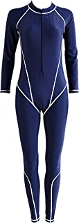 AOIF LLMY Women Fitness Full Length Wetsuit One Piece Long Sleeve Diving Suit 2035