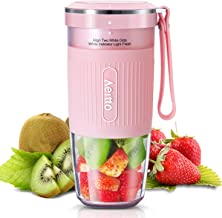 Portable Blender, Cordless Personal Blender Juicer, Mini Mixer, Smoothies Maker Fruit Blender Cup With USB Rechargeable, BPA Free, 10oz, for Home, Office, Sports, Travel, Outdoors, by Aeitto