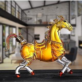 Horse Whisky Karaf, Goede Afdichting Met Hoge Capaciteit Voor Crafted Glass Brandy Tequila Bourbon Scotch Rum Decanter