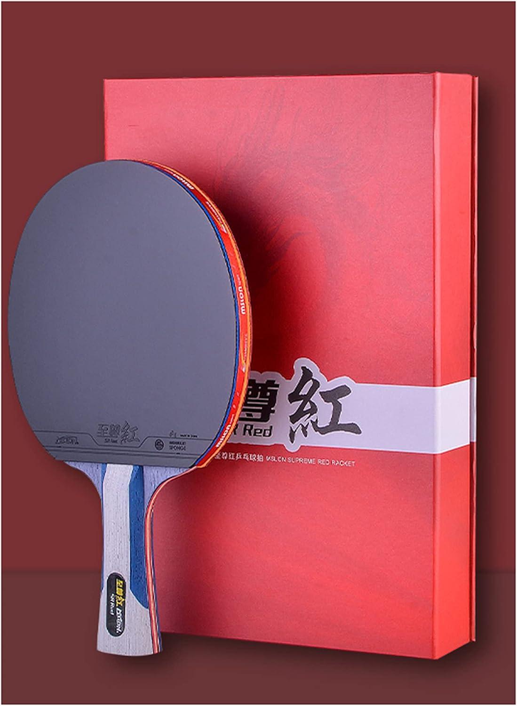 SSHHI Raquetas de Tenis de Mesa Profesional,Exquisita Caja de Regalo,Paleta de Ping Pong para Intermedios,Principiantes/Single/Long handle