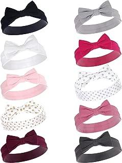 Hudson Baby Infant Girl Cotton Headbands