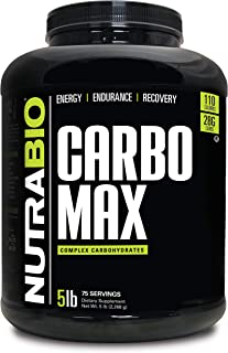 NutraBio CarboMax (5 Pounds) – Unflavored Carbohydrate Powder