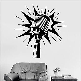 LHFSM Microphone décalque de Vinyle, for Le Salon de Musique karaoké Vinyle Stickers muraux for décoration Accueil Chambre...