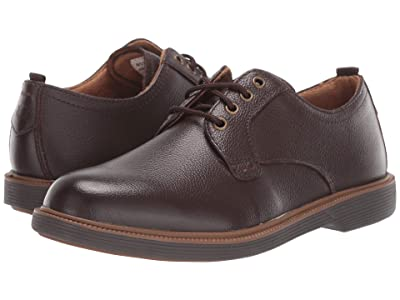 Florsheim Kids Supacush Plain Toe Ox, Jr. (Toddler/Little Kid/Big Kid) (Brown Milled Leather/Brown Sole) Boy