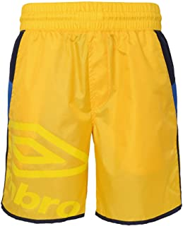Umbro Men's Trainers Shorts, Golden Kiwi/Navy