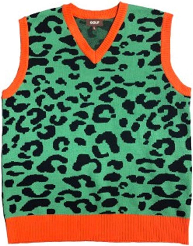 USTZFTBCL Leopard Men Popular brand in the world Camouflage Knit Sleev Vest Jacksonville Mall Casual Sweaters