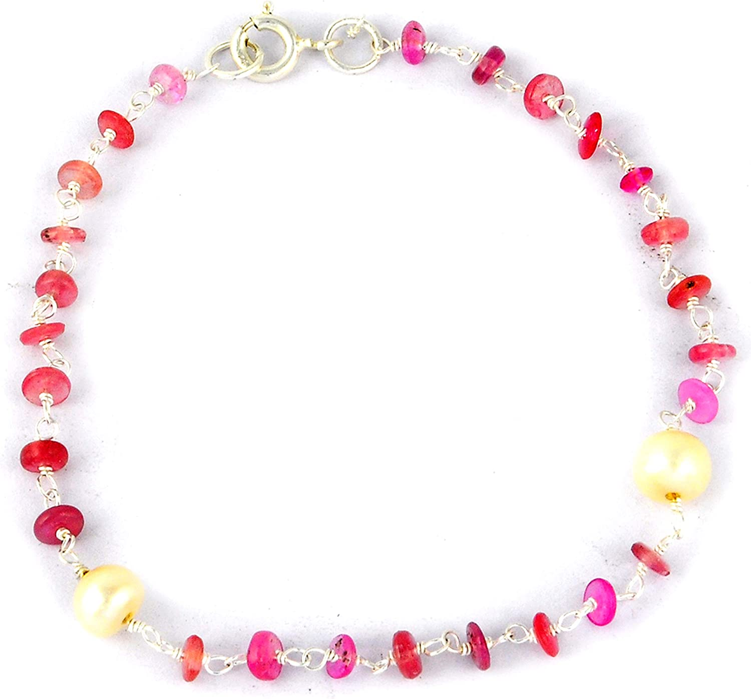 Orchid Jewelry Sterling Silver Cheap bargain Bracelet Se Ranking integrated 1st place Hypoallergenic Beaded