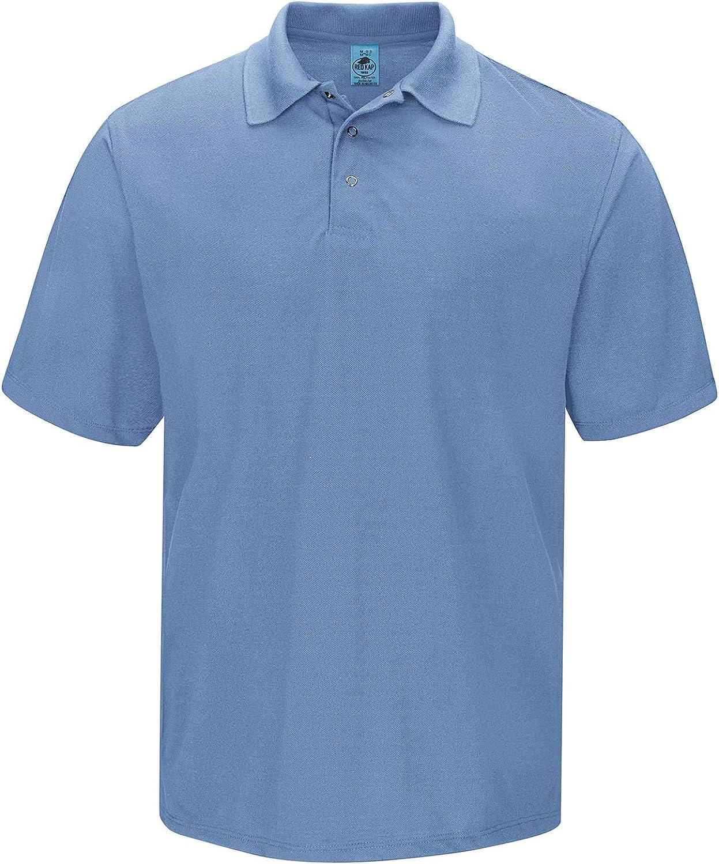 Red Kap Men's Short Sleeve Spun Polyester Gripper-Front Polo