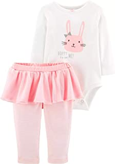 Baby Girls' 0M-24M 2 Piece Easter Tee and Pants Set