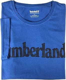 Timberland Men's Short Sleeve Camouflaged Linear Logo Cotton T-Shirt