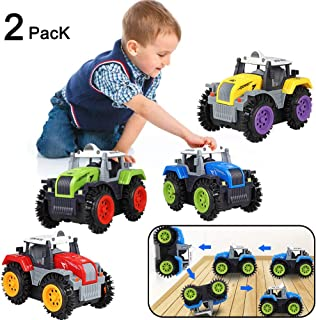 Pink stars Electric Off-Road Vehicle Racing Car Kids Toys Tumbling Vehicle,Child 360 Degree Spinning Toy Stunt Flip Car Christmas Festival Gift - 2 Pack