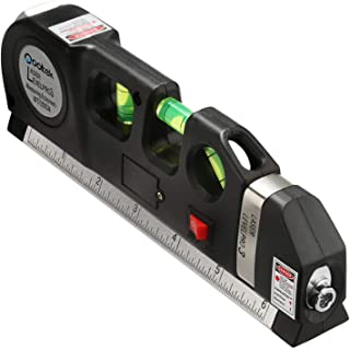 Qooltek Multipurpose Laser Level Laser Line 8 feet Measure Tape Ruler Adjusted Standard..