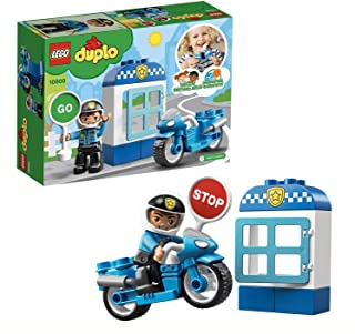 LEGO DUPLO Town Police Bike 10900 Building Blocks, 2019 (8 Pieces)